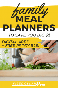 Need to get your family dinners back on track? Free printable meal plan inside! Save money and time with these smart family meal planner tools!