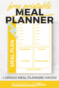 Need to get your family dinners back on track? Free printable meal plan inside! Save money and time with these smart meal planning tools!