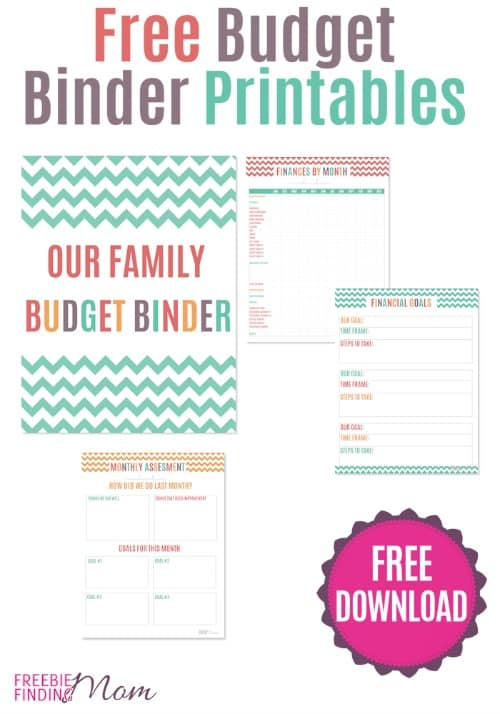 free budget binder | Freebie Finding Mom