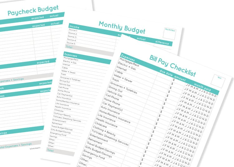free budgeting worksheets Haley Fiser