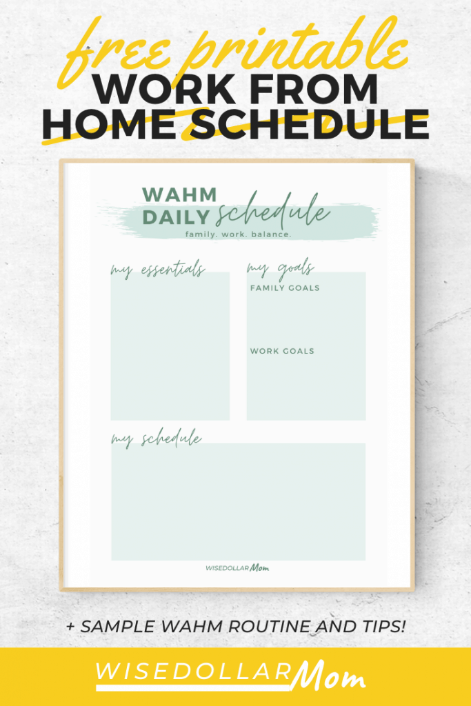 Wondering how to create a work at home mom schedule? Juggling a work from home routine can be stressful. The demands of kids and home life can easily push your business to the side. But with a few simple tweaks, you can create a work from home schedule that allows both your family and your business to thrive! Keep reading for these no-fail tips for a better work from home mom schedule!