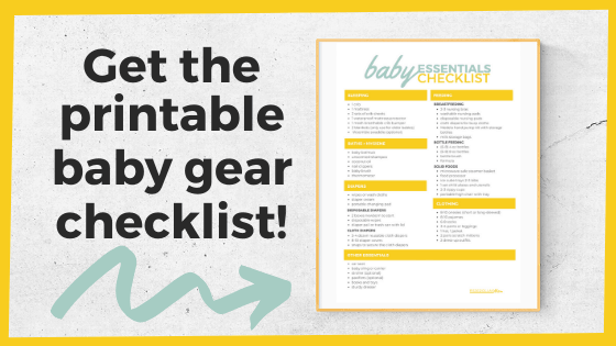 Printable Baby on a Budget Checklist