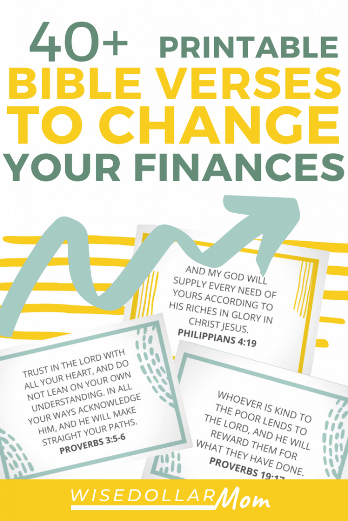 Need some encouragement to get your finances back on track? Look to God's word to find the motivation and wisdom you need. Find your favorite from these Scriptures on finances, and grab the free printable cards to keep these Bible verses about finances close by!